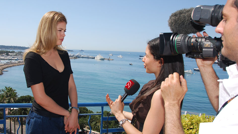 Dreh am Filmfestival in Cannes