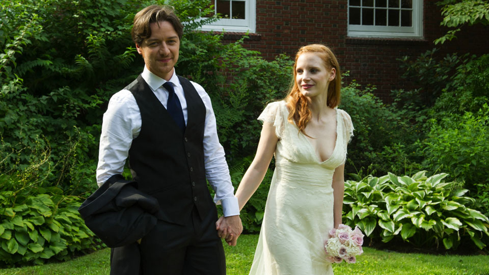 Conor Ludlow (James McAvoy), Eleanor Ribgy (Jessica Chastain)