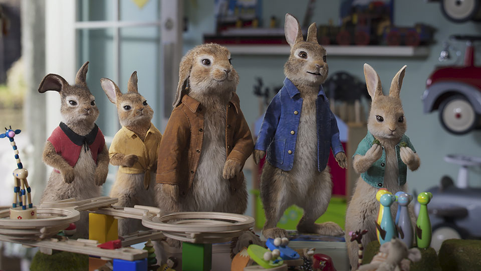 Flopsy, Mopsy, Benjamin, Peter Rabbit und Cotton-tail